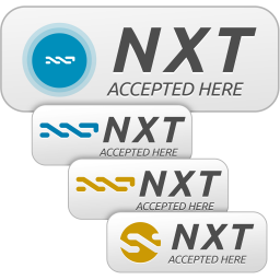 NXT Accepted Here Signs