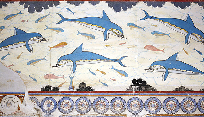 Minoan Fresco - Palace of Knossos