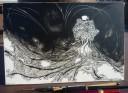 Inktober Ink Drawing Clayboard