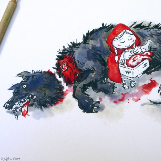 Red Riding Hood - ink