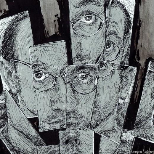 Thomas Schmall Ink Portrait