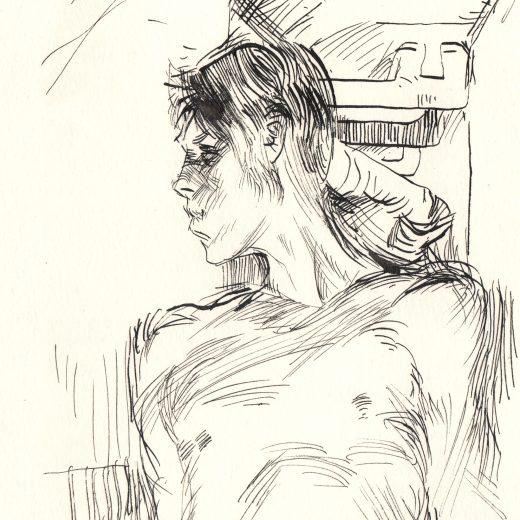 Male Ink Figure