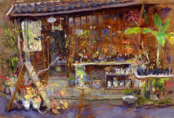 Bonsai Shop Painting