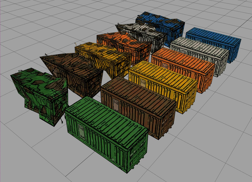Container Color Variations