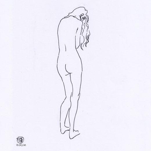 Simple Lines Figure Drawing