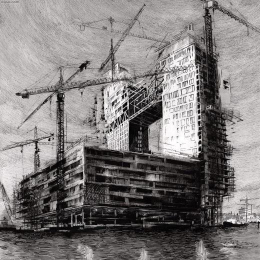 Nightfall on Construction Drawing