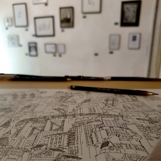 Drawing at Exhibition