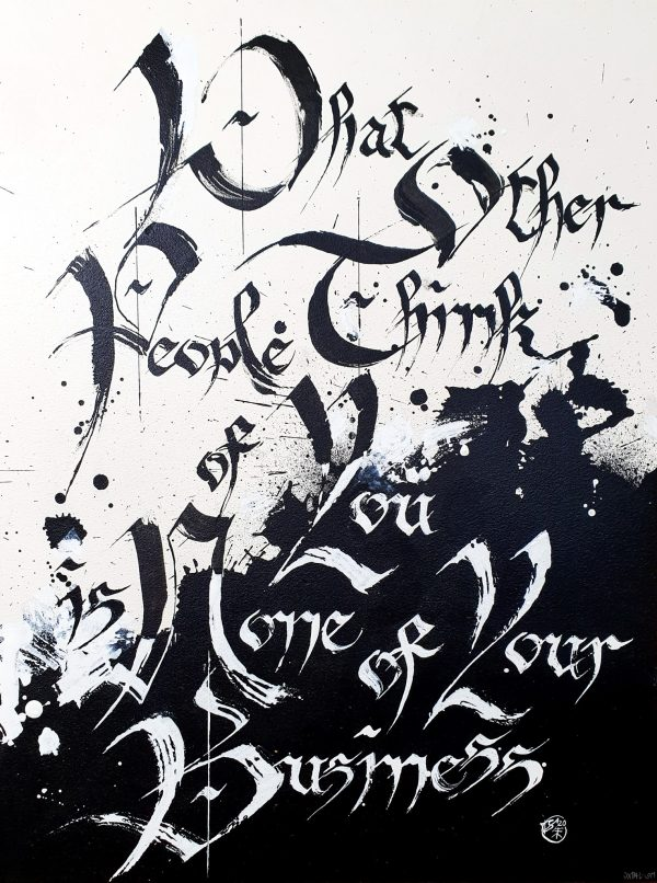 Original Quote Calligraphy