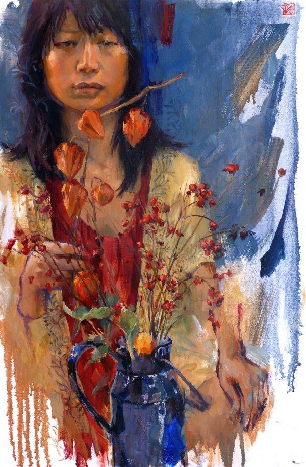 Oil Painting Korean Woman